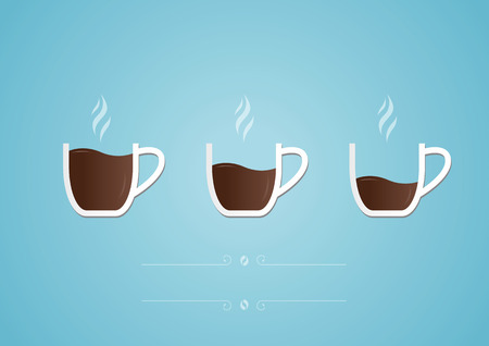 Illustration for Cup of coffee with heart icon. Vector illustration - Royalty Free Image