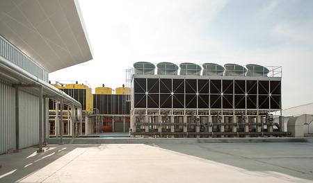 Photo pour Cooling tower at outdoor. - image libre de droit