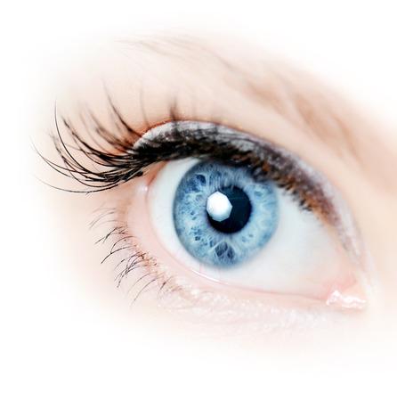 Foto de Female eye with long eyelashes close up - Imagen libre de derechos