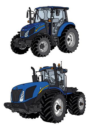 Illustration pour hand drawing of tractor - image libre de droit