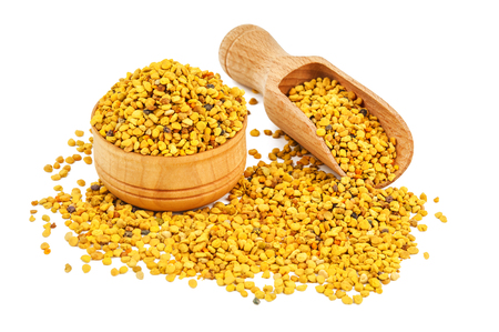 Photo pour natural bee pollen isolated on white - image libre de droit