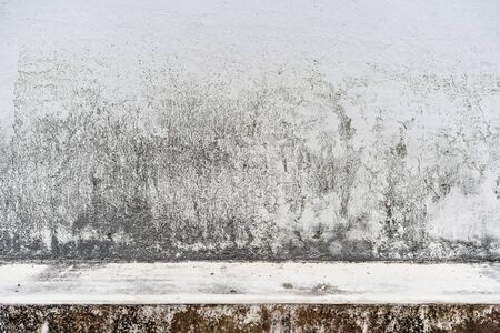 Foto de Design concept - old cement vintage wall with floor background texture - Imagen libre de derechos