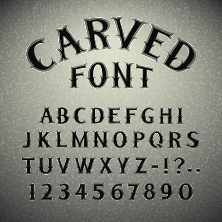 Ilustración de Font Carved in Stone - Imagen libre de derechos