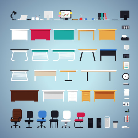 Illustration pour Office Furniture Set - image libre de droit