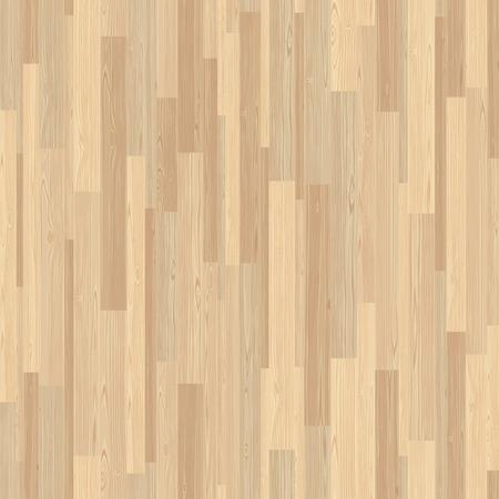 Illustration pour Light parquet seamless wooden floor stripe mosaic tile. Editable pattern in swatches. - image libre de droit