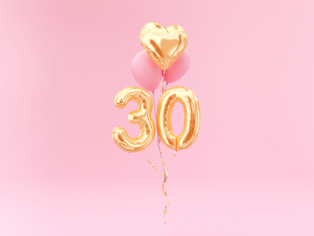 Photo pour celebration balloon with number 30 - image libre de droit