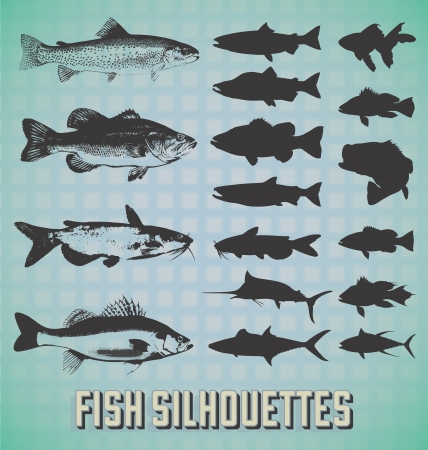 Set: Fish Silhouettes