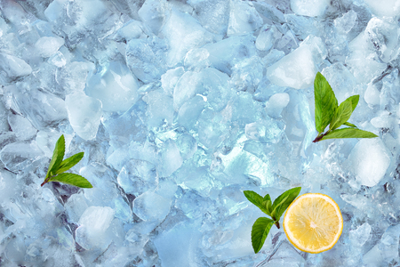 Photo for background with crushed ice cubes, top view - Royalty Free Image