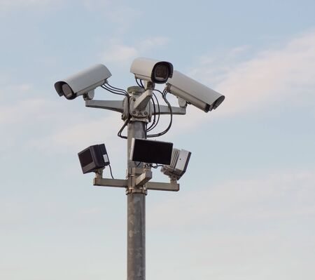 Foto de Video surveillance Video surveillance system for a terrain - Imagen libre de derechos