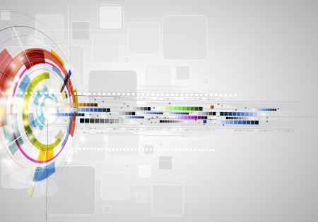 Photo pour abstract blur ray computer technology business banner - image libre de droit