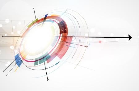 Illustration pour abstract global infinity computer  technology concept business background - image libre de droit