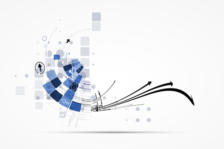 Ilustración de science futuristic internet high computer technology business background - Imagen libre de derechos