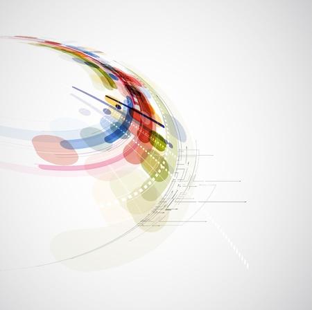 Illustration pour science futuristic internet high computer technology business background - image libre de droit