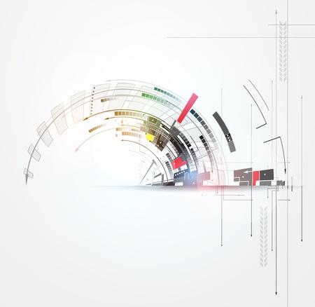 Foto de science futuristic internet high computer technology business background - Imagen libre de derechos