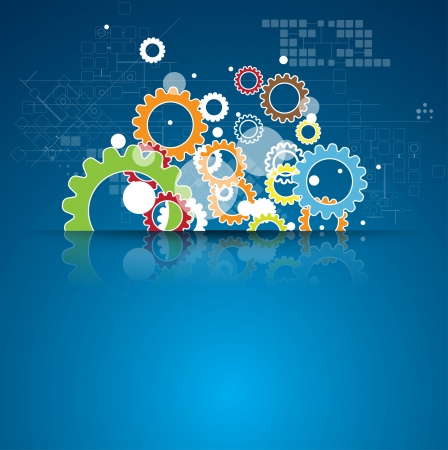 Photo pour abstract global infinity computer  technology concept business background - image libre de droit