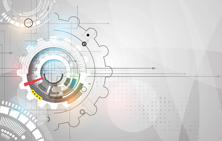 Illustration pour machine technology gears. retro gearwheel mechanism abstract bacground - image libre de droit