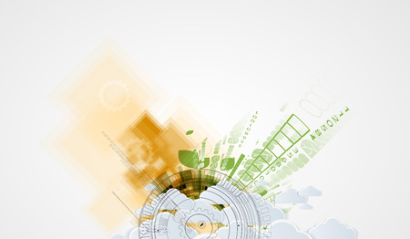 Abstract green technolgy business concept. Ecology background