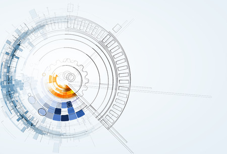 Photo pour Abstract vector background. Futuristic technology style. Elegant background for business tech presentations. - image libre de droit