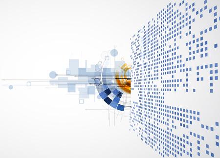 Ilustración de abstract global infinity computer  technology concept business background - Imagen libre de derechos