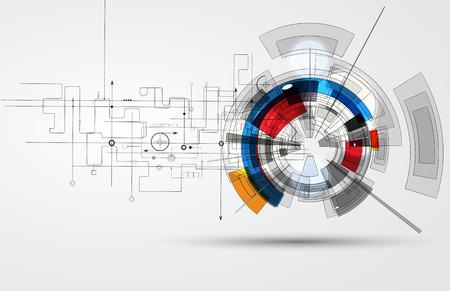 Ilustración de Abstract vector background. Futuristic technology style. Elegant background for business tech presentations. - Imagen libre de derechos