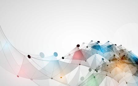 Illustration pour Abstract vector background. Futuristic technology style. Elegant background for business tech presentations. - image libre de droit