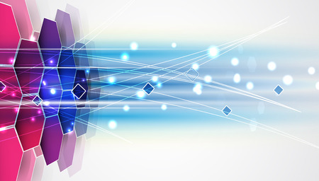 Ilustración de New future technology concept abstract background for business solution - Imagen libre de derechos
