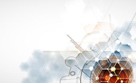 Illustration pour Technology abstract background Vector - image libre de droit