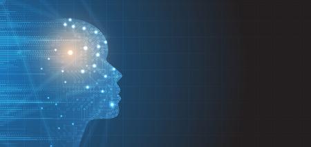 Illustration pour Abstract Artificial intelligence. Technology web background. Virtual concept - image libre de droit
