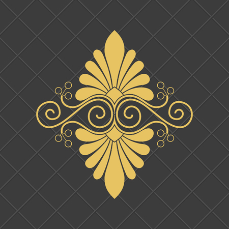 Illustration for Vintage baroque ornament. Retro pattern antique style. - Royalty Free Image