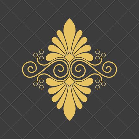 Ilustración de Vintage baroque ornament. Retro pattern antique style. - Imagen libre de derechos