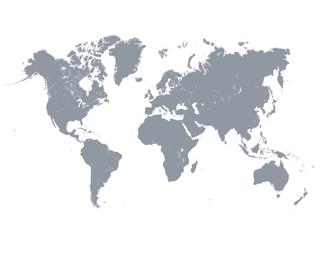 Photo for Vector illustration of detailed gray world map - Royalty Free Image