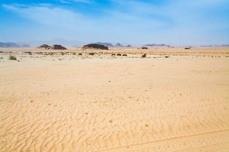 desert landscape  of Wadi Rum, Jordan