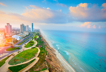 Photo for Panoramic view of Netanya city, Israel - Royalty Free Image
