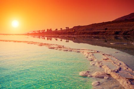 Photo for Sunrise over Dead Sea. - Royalty Free Image