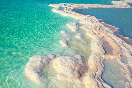 Photo for Texture of Dead sea. Salt sea shore - Royalty Free Image