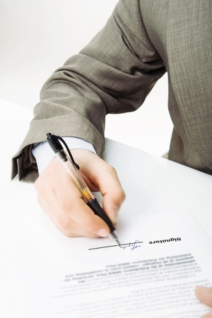 Signature -The signature of business contract