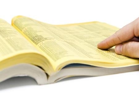 Photo pour Yellow Pages Search - image libre de droit
