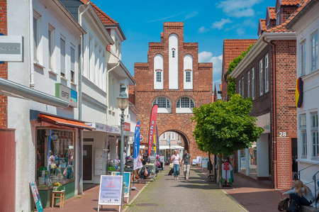 Photo for Kremper gate in Neustadt in Holstein at the Baltic Sea - Royalty Free Image