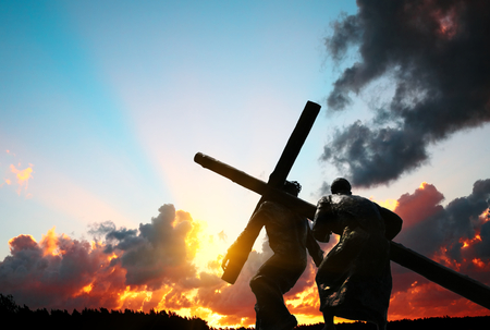 Photo for Christ carrying the cross - Royalty Free Image
