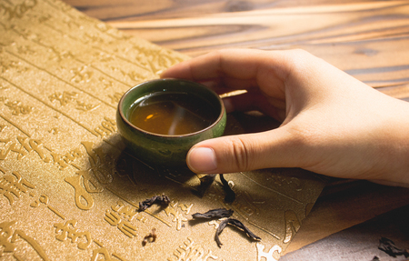 Photo for chinese tea tasting - Royalty Free Image