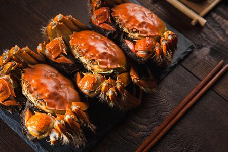 Foto de Fat river crabs - Imagen libre de derechos