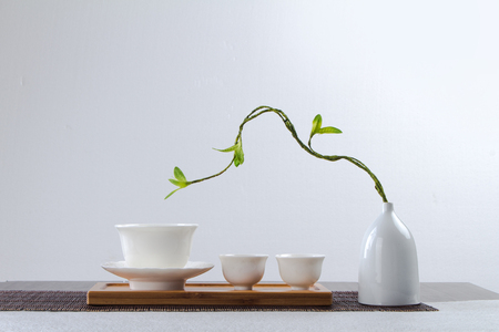 Foto de chinese tea set - Imagen libre de derechos