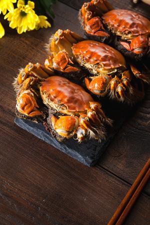 Photo pour Autumn crabs - image libre de droit