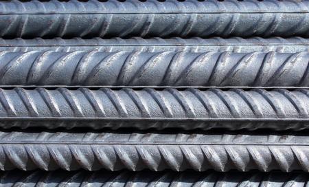 Photo pour bundle of steel reinforcement bars - image libre de droit