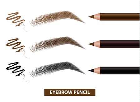 Illustrazione per Eyebrow pencil color swatch vector illustration - Immagini Royalty Free