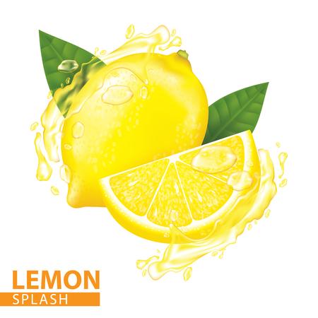 Ilustración de Lemon splash vector illustration - Imagen libre de derechos
