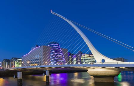 Photo for The Samuel Beckett Bridge in Dublin, Ireland - Royalty Free Image