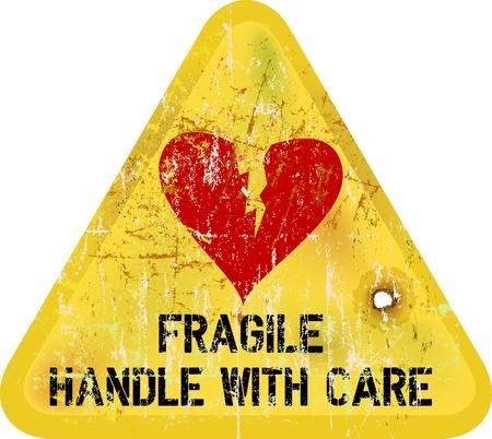 Ilustración de warning sign: heartbreak, Love concept - Imagen libre de derechos