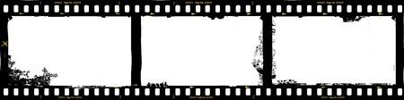 Ilustración de frames of film, grungy photo frames,with free copy space,vector illustration - Imagen libre de derechos