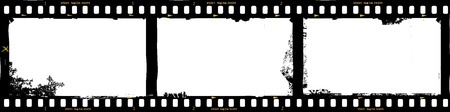Illustration pour frames of film, grungy photo frames,with free copy space,vector illustration - image libre de droit